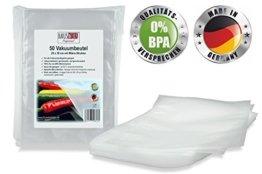 """Vakuumbeutel von HAUSWERK für Lebensmittel - """"Made in Germany"""" (50 Btl. 20x30cm – Sous-vide) Profi-Qualität für alle Folienschweißgeräte -"""